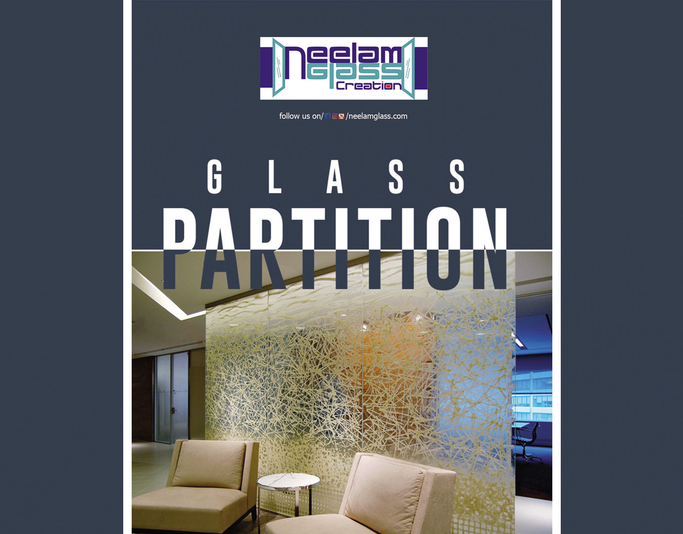 1.Partition glass