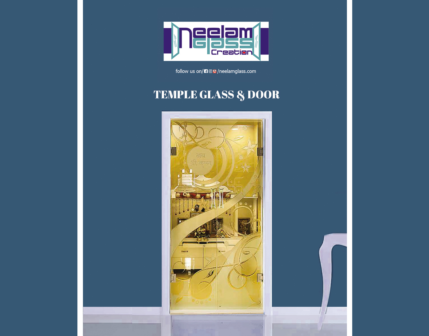 11e2af8f4474 Temple Glass Doors | Glass Products |Neelam Glass Creation
